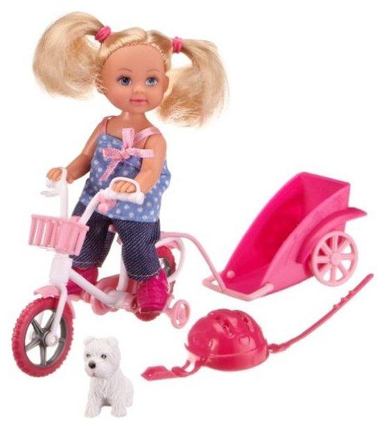 Набор Simba Еви на велосипеде с собачкой