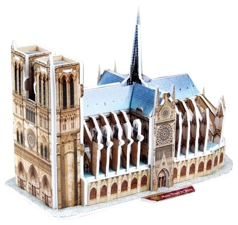 3D-пазл CubicFun Нотрдам де Пари (S3012), 39 дет.
