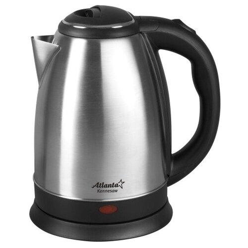 Фото - Чайник Atlanta ATH-2431, серебристый чайник электрический atlanta ath 2461 red