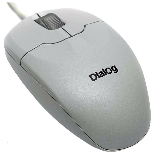 Мышь Dialog MOP-01WP White PS/2