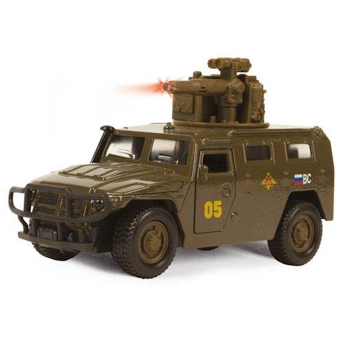 Купить Внедорожник ТЕХНОПАРК ГАЗ 2330 Тигр Вооруженные силы (CT12-357-G1) 1:43 болотный, Машинки и техника
