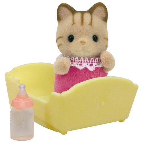 Купить Игровой набор Sylvanian Families Малыш Полосатый котёнок 5186, Игровые наборы и фигурки