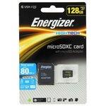 Карта памяти Energizer microSDXC Class 10 UHS-I U1 80MB/s + SD adapter