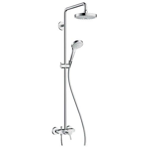 Душевая стойка hansgrohe Croma Select S 180 2jet Showerpipe 27255400 комбинированное душевая система hansgrohe croma select e 180 2jet showerpipe 27258400