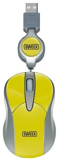 Мышь Sweex MI054 Mini Optical Mouse Mango Yellow USB