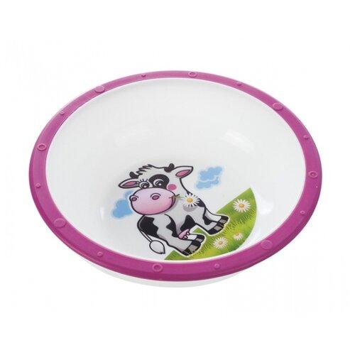 Купить Тарелка Canpol Babies Little cow (4/416) Коровка розовая, Посуда
