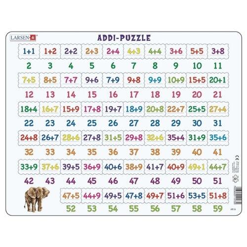 Купить Рамка-вкладыш Larsen Математика Сложение (AR8), 58 дет., Пазлы
