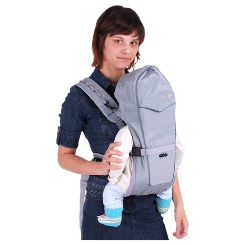 Рюкзак-переноска Чудо-Чадо BabyActive Simple серый чудо чадо рюкзак кенгуру babyactive choice неон цвет синий