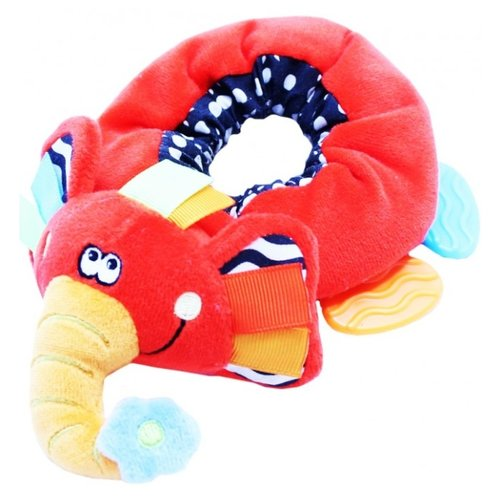 Купить Прорезыватель-погремушка Roxy kids Игрушка на ногу Слоненок Элли красный, Погремушки и прорезыватели