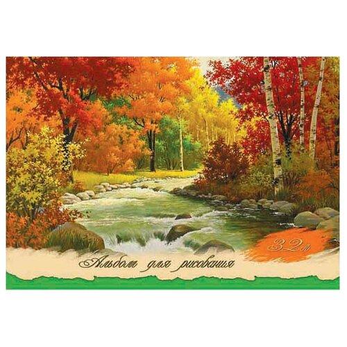 Купить Альбом для рисования Проф-Пресс Краски осени 29.7 х 21 см (A4), 32 л., Prof-Press, Альбомы для рисования