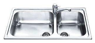 Врезная кухонная мойка smeg AG862 86х50см нержавеющая сталь