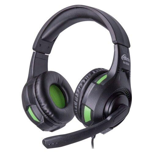Компьютерная гарнитура Ritmix RH-559M черный/зеленый гарнитура ritmix rh 126m черный