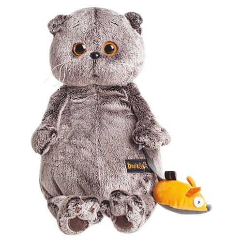 Купить Мягкая игрушка Basik&Co Кот Басик и мышка 19 см, Мягкие игрушки