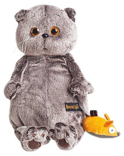 Budi Basa Мягкая игрушка Кот Басик с мышкой 19 см Ks19-004