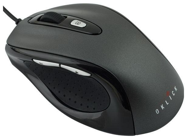 Oklick 404 M Optical Mouse Black-Dark Grey USB