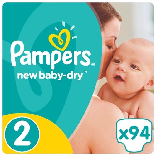 fcd54df01bb2 Купить Pampers подгузники New Baby-Dry 2 (3-6 кг) 94 шт. по выгодной ...