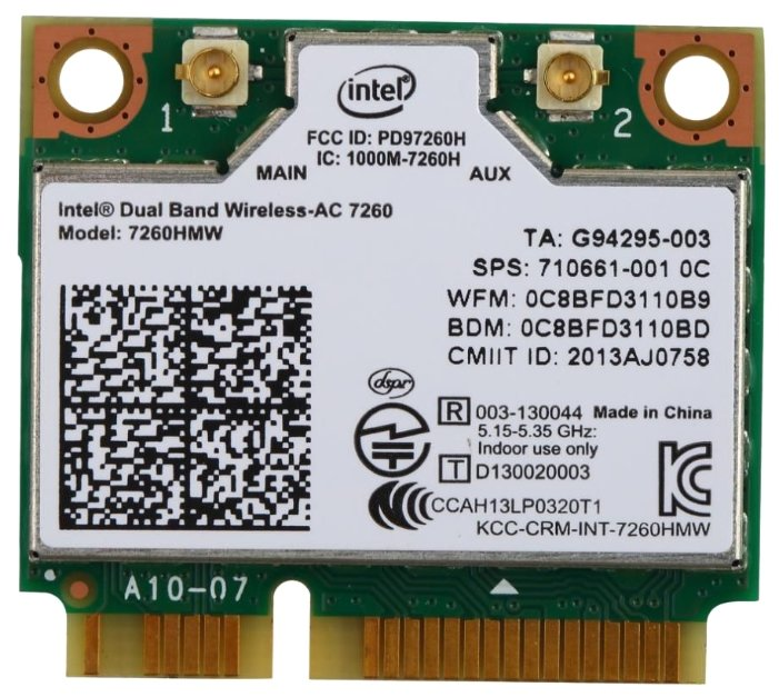 Bluetooth+Wi-Fi адаптер Intel 7260HMW.AC