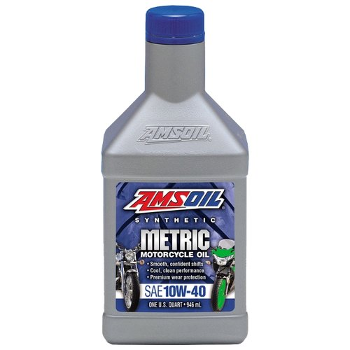 Моторное масло AMSOIL Synthetic Metric Motorcycle Oil 10W-40 0.946 л
