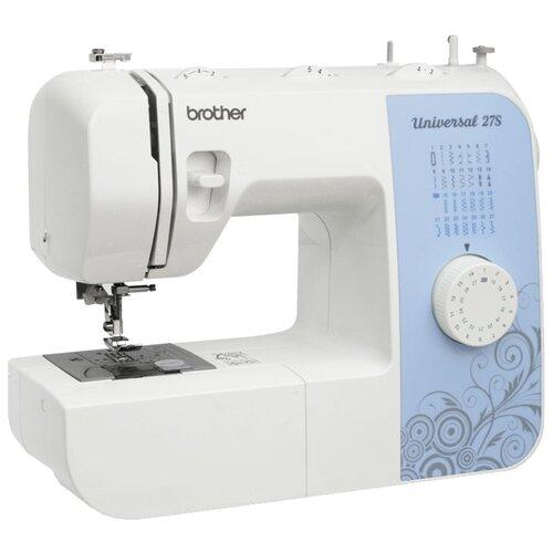 Швейная машина Brother Universal 27S, бело-голубой швейная машина brother elite 45 бело желтый