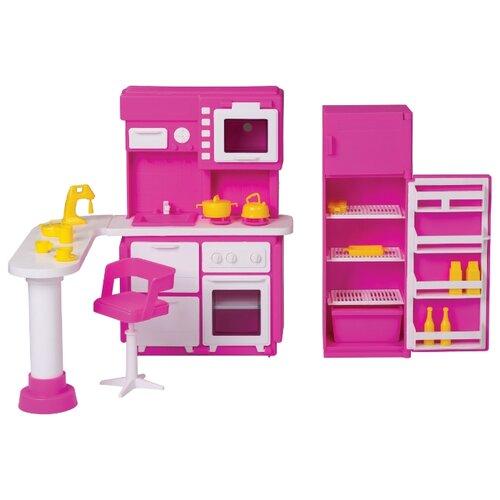 ОГОНЁК Набор мебели для кухни Зефир (С-1409) розовый/белый набор детской мебели интехпроект трансформер розовый