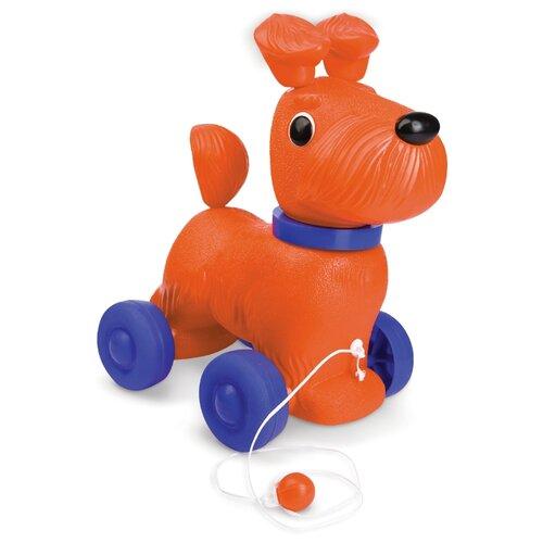 Купить Каталка-игрушка ОГОНЁК Тобик оранжевый/синий, Каталки и качалки