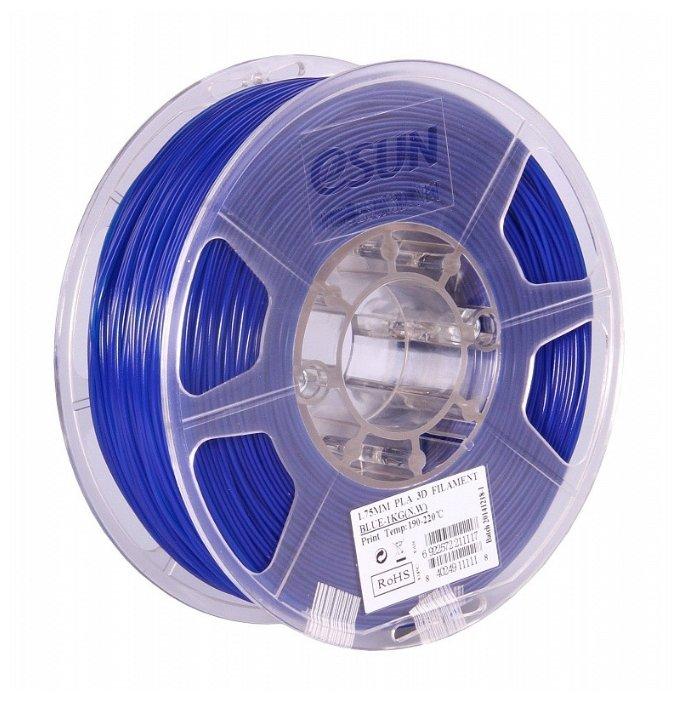 PLA пруток ESUN 1.75 мм синий 1 кг фото 1