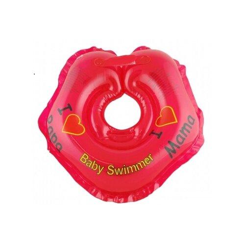 Купить Круг на шею Baby Swimmer 0m+ (3-12 кг) Я люблю красный, Круги на шею