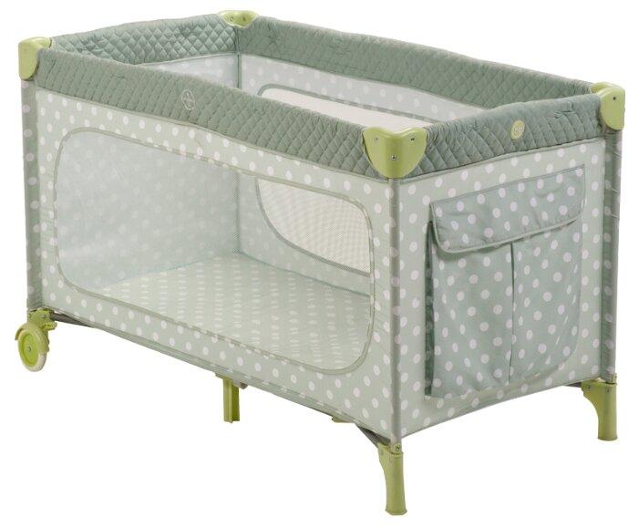 Манеж-кроватка Happy Baby Martin, бежевый