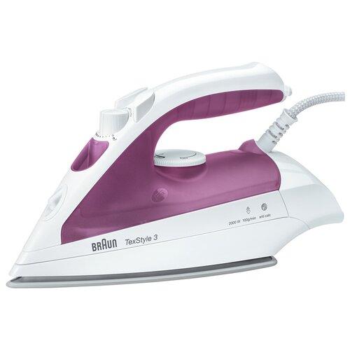 Утюг Braun TexStyle 3 TS320C фиолетовый/белый утюг braun texstyle 5 ts505 розовый белый