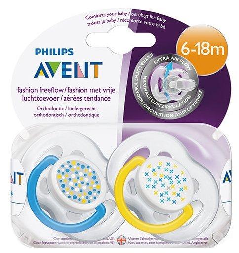 Пустышка силиконовая анатомическая Philips AVENT Freeflow SCF180/24 6-18 м (2 шт)