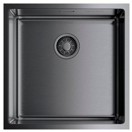 Фото - Интегрированная кухонная мойка 44 см OMOIKIRI Taki 44-U/IF-GM вороненая сталь кухонная мойка omoikiri taki 44 u if lg 4973520