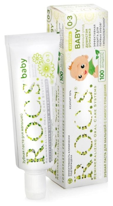 Рокс беби зубная паста для малышей Душистая ромашка 45г