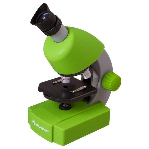 Микроскоп BRESSER Junior 40-640x с набором для опытов зеленый