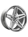 Lexani 8,5x20/5x130 ET35 D74,1 R5 Silver/Machined/Chrome Lip - фото 1
