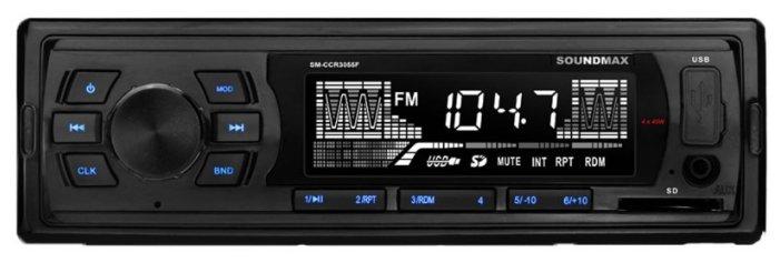 Автомагнитола SoundMAX SM-CCR3055F, черный фото 1