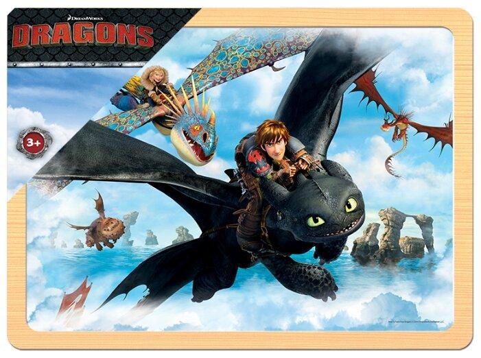 Рамка-вкладыш Step puzzle DreamWorks Драконы (89138), 20 дет.