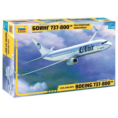 Сборная модель ZVEZDA Пассажирский авиалайнер Боинг 737-800 (7019) 1:144, Сборные модели  - купить со скидкой
