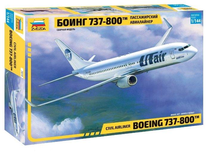 Купить Сборная модель ZVEZDA Пассажирский авиалайнер Боинг 737-800 (7019) 1:144 по низкой цене с доставкой из Яндекс.Маркета (бывший Беру)