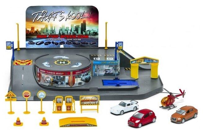 Welly City Garage Playset 96010