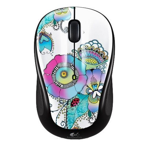 Мышь Logitech Wireless Mouse M325 Lady on the Lily Black-White USB