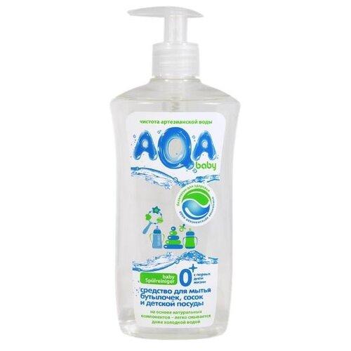 AQA baby Средство для мытья бутылочек, сосок и детской посуды, 0.5 л недорого