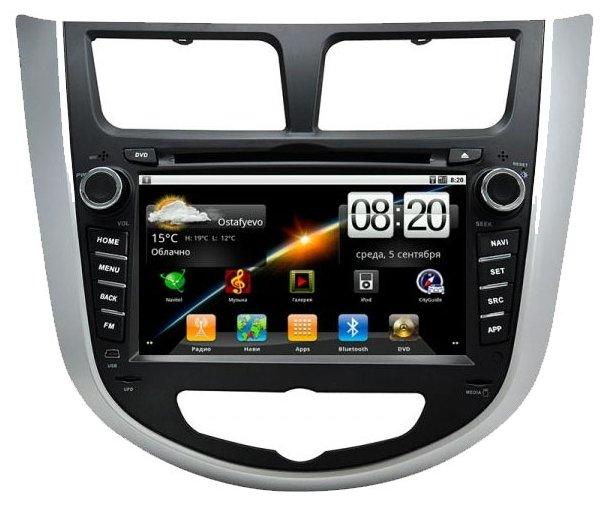 "CarSys Android Hyundai Solaris 7"""