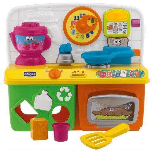 Купить Интерактивная развивающая игрушка Chicco Говорящая кухня рус/англ зеленый / желтый / красный, Развивающие игрушки