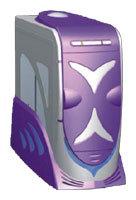 Компьютерный корпус Simplex GM05PS 350W Purple/silver