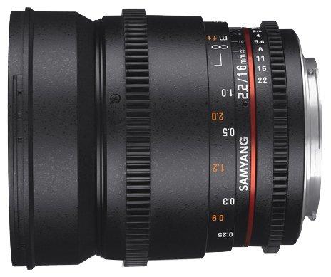 Samyang Объектив Samyang 16mm T2.2 ED AS UMC CS VDSLR II Canon M