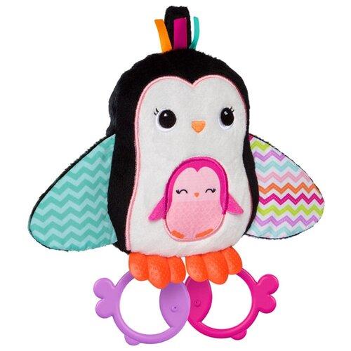 Купить Прорезыватель-погремушка Bright Starts Пингвинчик белый/черный/розовый, Погремушки и прорезыватели