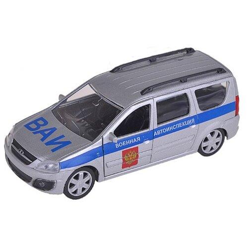 Легковой автомобиль Autogrand Lada Largus ВАИ (49485) 1:38 серебристый/синий