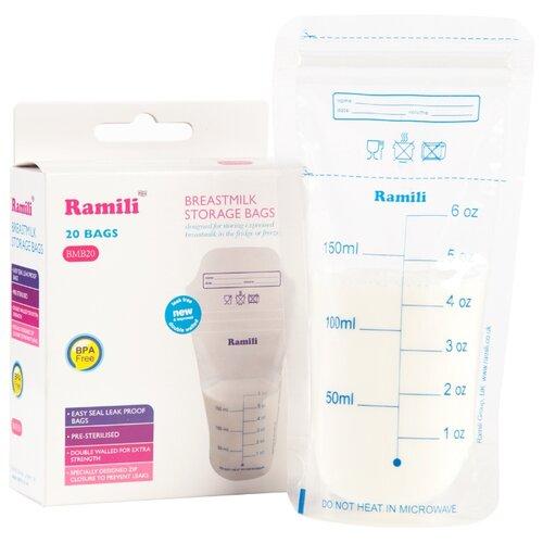 Ramili Baby Пакеты для хранения грудного молока Breastmilk Storage Bags BMB20 20 шт.