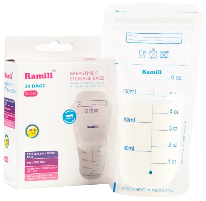 Ramili Baby Пакеты для хранения грудного молока Breastmilk Storage Bags BMB20
