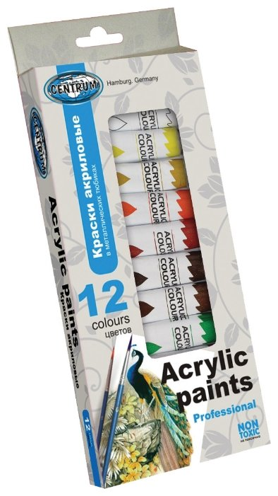 CENTRUM Акриловые краски 12 цветов х 12 мл (83561)